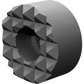 """Made in USA Steel Serrated Surface Round Gripper 1/2""""x1/2"""" #8 Socket Head Cap Screw Bore"""