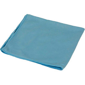 O-Cedar Commercial MaxiPlus® Microfiber Glass & Mirror Cloths, Blue 180/Case - 6064-180 - Pkg Qty 180