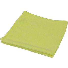 O-Cedar Commercial MaxiPlus® Microfiber Polishing Cloths, Yellow 180/Case - 6068-180 - Pkg Qty 180