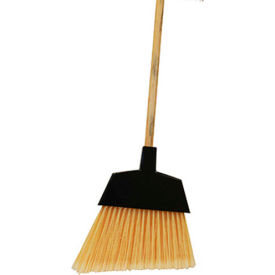 """O-Cedar Commercial MaxiClean Large Angle Broom, 48"""" Wood Handle 12/Case - 6400-W - Pkg Qty 12"""