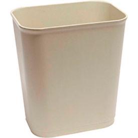 O-Cedar Commercial 14 Qt. Fire Resistant Wastebasket, Sand 6/Case - 6801 - Pkg Qty 6