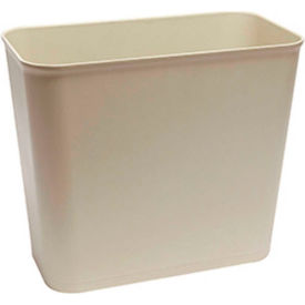 O-Cedar Commercial 27 Qt. Fire Resistant Wastebasket, Sand 6/Case - 6804 - Pkg Qty 6