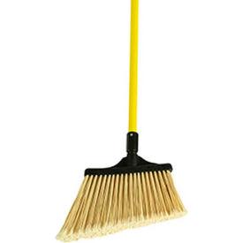 "O-Cedar Commercial MaxiPlus® Professional Angle Broom Flagged, 48"" Fiberglass Handle 4/Ca-91355 - Pkg Qty 4"