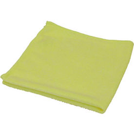 O-Cedar Commercial MaxiPlus® Microfiber Polishing Cloths, Yellow 12/Case - 96068 - Pkg Qty 12