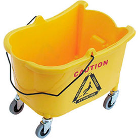 O-Cedar Commercial 35 Qt. MaxiRough® Mop Bucket, Yellow 1/Case - 965