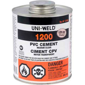 Oatey 1256S 1200 Series PVC Medium Clear Cement 8 oz. - Pkg Qty 24
