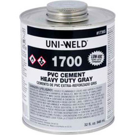 Oatey 1724 Cement PVC Heavy Duty Gray Cement - Wide Mouth Can 1 Gallon - Pkg Qty 6