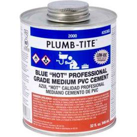 "Oatey 2046S 2000 Series Plumb-Tite PVC Medium ""Hot"" Blue Cement 16 oz. - Pkg Qty 24"