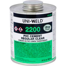 Oatey 2256S 2200 Series PVC Regular Clear Cement 8 oz. - Pkg Qty 24