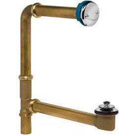 Dearborn Brass 235-3 Brass Chicago Code Thru Wall Kit 17 Ga. Uni-Lift Stopper Chrome Finish Trim