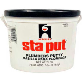 Hercules 25120 Sta Put Plumber's Putty - Plastic Pail With Handle 20 lb - Pkg Qty 2