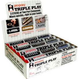 Hercules 25527 ProPoxy Triple Play Putty Display Pack 4 oz. - Pkg Qty 24