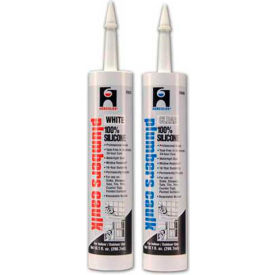 Hercules 25676 Plumbers Caulk - Silicone - White - Cartridge 11 oz. - Pkg Qty 12