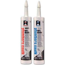 Hercules 25686 Plumbers Caulk - Silicone - Clear - Cartridge 11 oz. - Pkg Qty 12