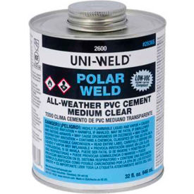 Oatey 2656S 2600 Series Polar-Weld PVC All Weather Cement 8 oz. - Pkg Qty 24