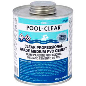 Oatey 2936S 2900 Series Pool-Clear Medium Clear PVC Cement 32 oz. - Pkg Qty 12