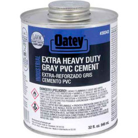 Oatey 30343 EP13 PVC Extra HD Gray Cement 1 Gallon - Pkg Qty 6