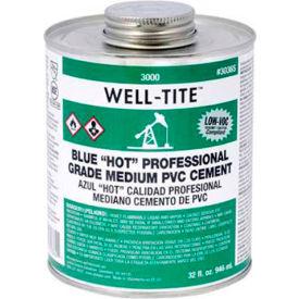 "Oatey 3036S 3000 Series Well-Tite Pvc Medium ""Hot"" Blue Cement 32 oz. - Pkg Qty 12"