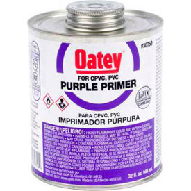 Oatey 30759 Purple Primer 1 Gallon, Wide Mouth Can, NSF Listed - Pkg Qty 6