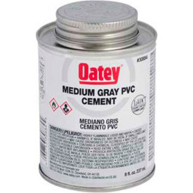Oatey 30886 PVC Medium Gray Cement 32 oz. - Pkg Qty 12