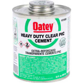 Oatey 31011 PVC Heavy Duty Clear Cement - Wide Mouth Can 1 Gallon - Pkg Qty 6
