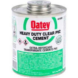 Oatey 31011 PVC Heavy Duty Clear Cement - Wide Mouth Can 1 Gallon - Pkg Qty 6