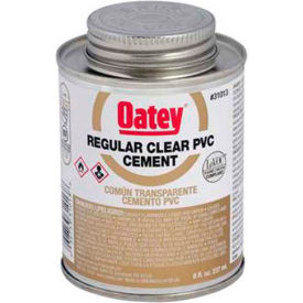 Oatey 31014 PVC Regular Clear Cement 16 oz. - Pkg Qty 24