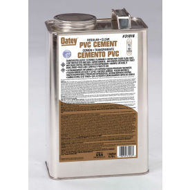 Oatey 31016 PVC Regular Clear Cement 1 Gallon - Pkg Qty 6