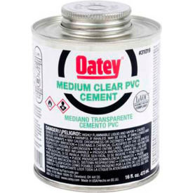 Oatey 31020 PVC Medium Clear Cement 32 oz. - Pkg Qty 12
