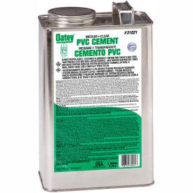 Oatey 31021 PVC Medium Clear Cement 1 Gallon - Pkg Qty 6