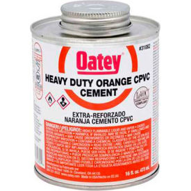 Oatey 31084 CPVC Heavy Duty Orange Solvent Cement - Wide Mouth Can 1 gallon - Pkg Qty 6