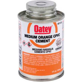 Oatey 31127 CPVC Medium Orange Cement 1 gallon - Pkg Qty 6