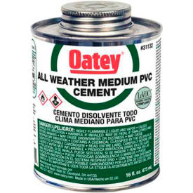 Oatey 31133 PVC All Weather Clear Cement 32 oz. - Pkg Qty 12