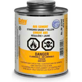 Oatey 31543 ABS Standard Yellow Cement 946 ML - Pkg Qty 12