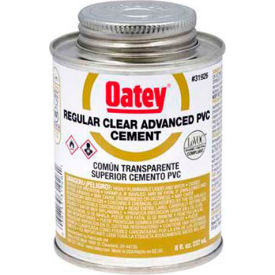 Oatey 31929 PVC Regular Clear Advanced - Wide Mouth Can 1 Gallon - Pkg Qty 6