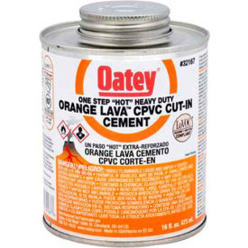 Oatey 32168 Orange Lava CPVC Cut-In Cement 32 oz. - Pkg Qty 12
