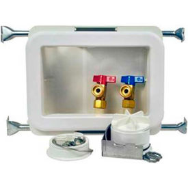 Oatey 38482 Fire Rated Washing Machine Outlet Box Single Lever, Hammer, Copper, Sweat