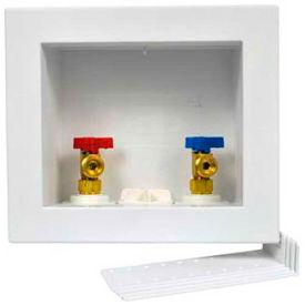 Oatey 38542 Quadtro Washing Machine Outlet Box 1/4 Turn, Hammer, Ball Valve, ASTM F1807 PEX - Pkg Qty 12
