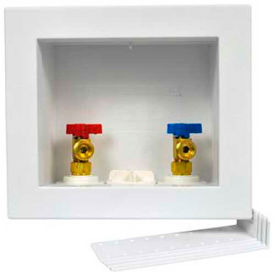 Oatey 38551 Quadtro Washing Machine Outlet Box 1/4 Turn, Brass Ball Valve, Compression - Pkg Qty 12