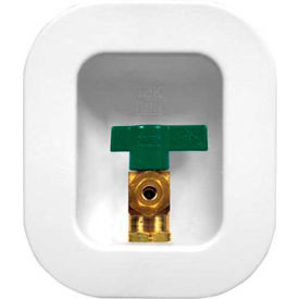 Oatey 39134 I2K Ice Maker Box with Nails 1/4 Turn Brass Ball Valve Low Lead, Copper Sweat- Std Pack - Pkg Qty 6