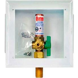 Oatey 39140 Metal Ice Maker Box Metal 1/4 Turn, Copper, Hammer, Low Lead, Standard Pack