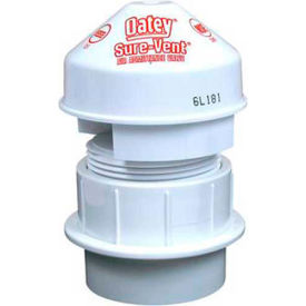 "Oatey 39226 Sure-Vent Air Admittance Valve 6 DFU Capacity 1-1/2"" Tubular Adapter Black - Pkg Qty 6"