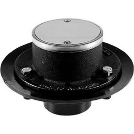 """Oatey 42206 2"""" No-Hub 151 Cast Iron Shower Drain with 2"""" No Hub Connection - Pkg Qty 6"""