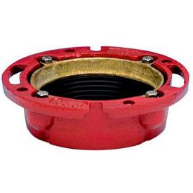 "Oatey 42256 4"" 165 CI TC Cast Iron Flange w/ Test Cap - Pkg Qty 6"