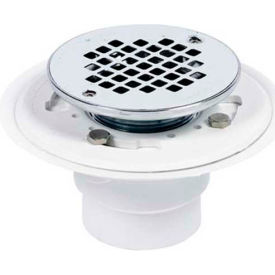 """Oatey 42393 2"""" Or 3"""" ABS Drain With Square SS Screw-Tite Strainer and Chrome Plated Brass Barrel - Pkg Qty 12"""