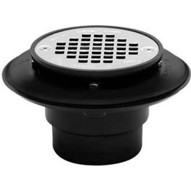 """Oatey 42398 2"""" Or 3"""" PVC Drain With square Rubbed Bronze Snap-Tite Strainer - Pkg Qty 12"""