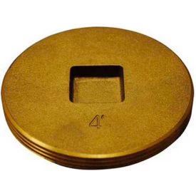 "Oatey 42742 Brass Cleanout Plug 2-1/2"" - Pkg Qty 12"