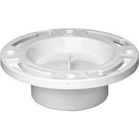 "Oatey 43506 3"" ABS Inside Fit Closet Flange With Plastic Ring and Tes Cap - Pkg Qty 12"