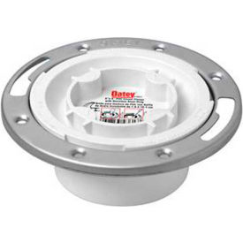 "Oatey 43553 3"" or 4"" PVC Easy Tap Closet Flange with Stainless Steel Ring - Pkg Qty 12"