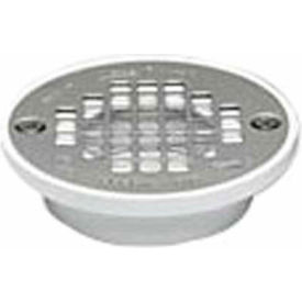 "Oatey 43581 2"" Or 3"" PVC Short General Purpose Drain with 4"" Stainless Steel Screw-Tite Strainer - Pkg Qty 12"
